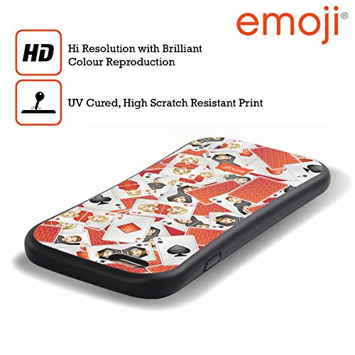 Ufficiale Emoji Amore Modelli 3 Case Ibrida per Apple iPhone 7 / iPhone 8 Giocando A Carte