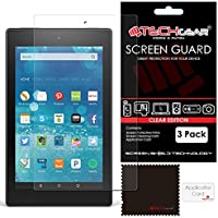 "TECHGEAR [Pack of 3] Screen Protectors for Amazon Fire HD 8 Tablet with Alexa - Clear Lcd Screen Protector for Fire HD 8"" All Generations - With Cleaning Cloth + Application Card"