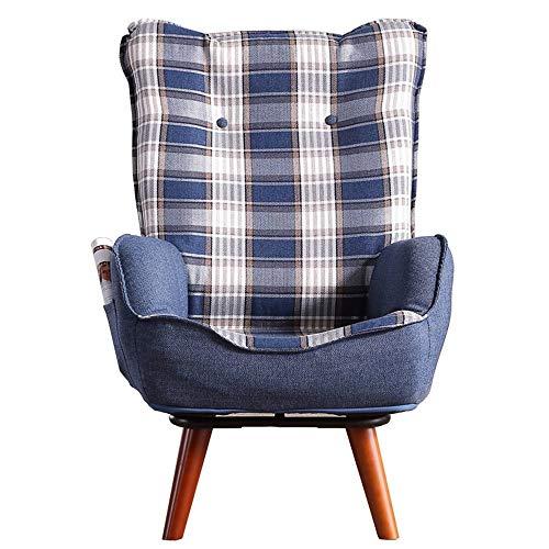 Oevina Schwangere Frauen-Sessel bequemer Stillstuhl 360 & deg; Rotation Klappstühle Balkon Wohnzimmer Casual Boden Stuhl Sessel Balkon Hocker Faules Sofa (Farbe : B)