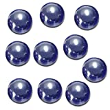glass marbles - TOOGOO(R)10 Pcs Marbles 16mm glass marbles Knicker glass balls decoration toy Dark Blue