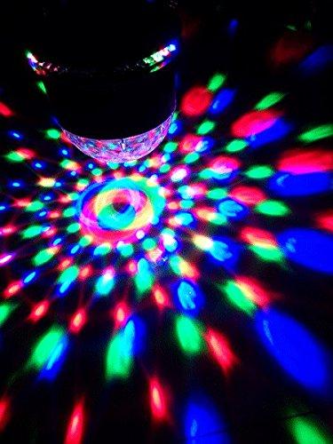 Ibiza LED UFO Lichteffekt LED-Untertasse Decken-Beleuchtung (48 leuchtstarke RGB LEDs, Automatik, Ne - 4