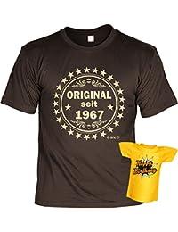 VERI T-Shirt Geschenk Idee Set zum 50 Geburtstag T-Shirt mit Mini Flaschenshirt seit 1967 Original : )
