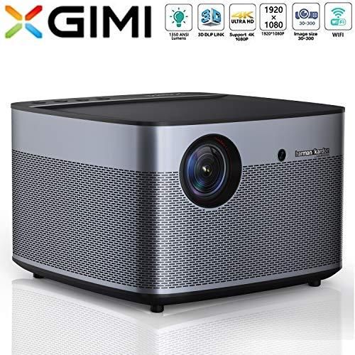 XGIMI H2 LED Smart Projektor 1080P HD 1350 ANSI Lumen 3D Beamer Heimkino mit Harman Kardon Lautsprecher Android System Support 4K Lampe Lebensdauer bis 50.000 Stunden (H2)