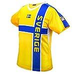 MC-Trend Schweden Sweden Fussball Trikot Gelb Blau Mannschaft Weltmeisterschaft UNISEX (S)