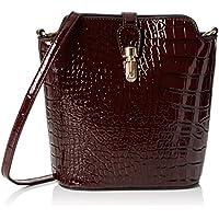 SwankySwansCharlotte Patent Leather Shoulder Bag Burgundy -