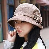 XINQING-MZ Hat a molla femmina e giorni d'autunno di ribaditura faccia video h-bacino cap ombreggiati giovane madre Cap