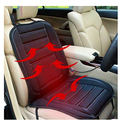 Voiture 12V Chauffage Coussin Hiver Chauffage Électrique Siège Siège Unique Voiture Coussin,Black