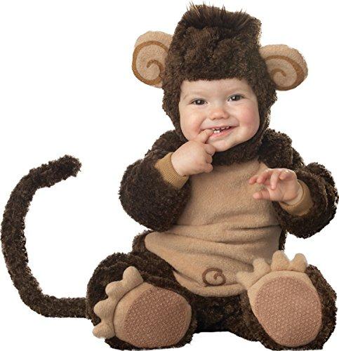 Lil Affe Kostüm - Affen-Kostüm für Babys mit lustigen Ohren - Premium 86 (12-18 Monate)
