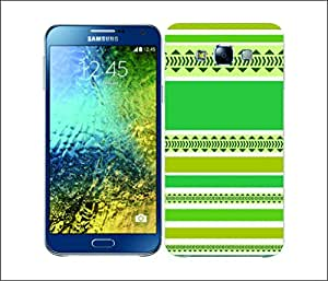 Galaxy Printed 2636 Printed Stripes Green Hard Cover for Samsung CORE PLUS