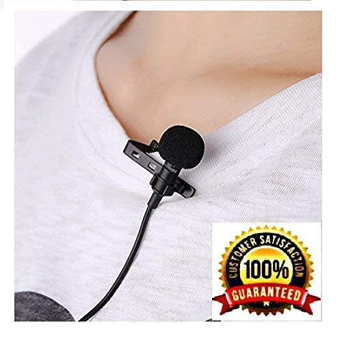 BOKA® 3.5 mm Clip Collar Mike for Voice Recording, Mobile, Pc, Laptop, Android Smartphones, DSLR Camera (Black)