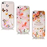 Coque iPod Touch 5 Silicone, LuckyW 3X Chat Rose You are Beautiful Housse Etui TPU Silicone Clear Clair Transparente Gel Slim Case pour iPod Touch 5/6 Soft de Protection Cas Bumper Cover Converture Anti Poussières Couvercle Anti Rayure