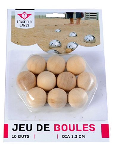 Zielkugeln aus Holz Jeu de Boules/Pétanque 10 Stück auf Bliester
