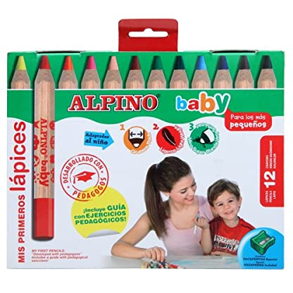 Alpino 8413240476511 – Estuche 12 lápices colores