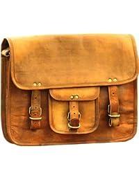Anshika International Vintage Handmade Brown Leather Messenger Bag - Dimension(L X W X H): 33 Cm X 8 Cm X 25 Cm