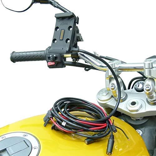 Buybits Cablaggio Cavo Alimentazione Moto M8/M10 Supporto Specchietto per Garmin Zumo 590 595