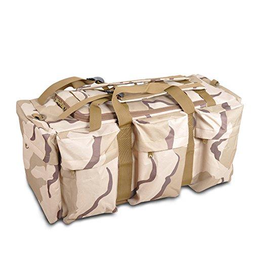 Herren Schulterriemen Tasche große Kapazität im Freien Wandern Rucksack im Freien Drei Camouflage