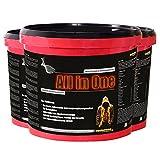 Das neue ALL in ONE! 3 Eimer Himbeergeschmack (7800g) Whey-Protein Kohlenhydrat-Mix