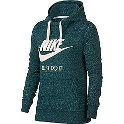 Nike NSW Vntg HBR Sudadera con Capucha, Mujer, Verde (Atomic Jaspeado), M