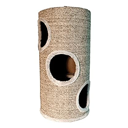 Arquivet Beige scratching post with holes 1