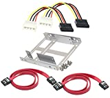 #6: Bracket mounting kit Dual 2.5 Inch to 3.5 Inch for SSD /HDD solid steel tray - Silver