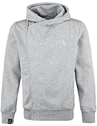 Assassin's Creed Asymmetric Sweat à capuche zippé gris chiné