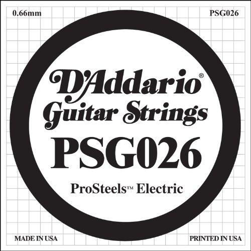 D'Addario Psg026 - Cuerda Para Guitarra Electrica, 0.026, Transparente