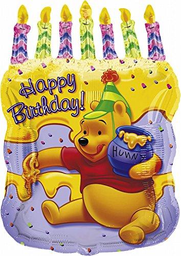 rty und Dekoration - Folienballon SuperShape - Disney Winnie Pooh - Torte, circa 45 x 58 cm ()