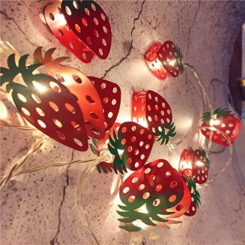 Batteriekasten Weihnachtsdekorationslichter, geführte gemalte Glockenlichter, Urlaubspartydekorationslichter@Erdbeere_3 Meter 20 Lichter