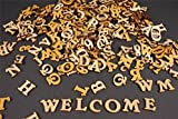 250+ Holz kleine Buchstaben (2cm) Alphabet Dekoration Selbstklebend (NF17)