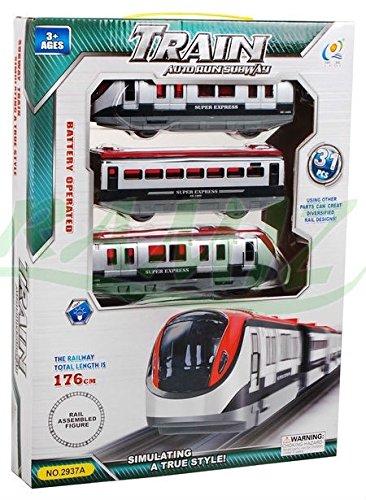 Elektrisch Eisenbahn Set 2 Waggons 176 cm