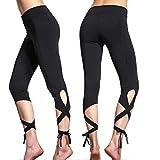 Oyedens YOGA salto tie-up pantalones de yoga de secado rápido