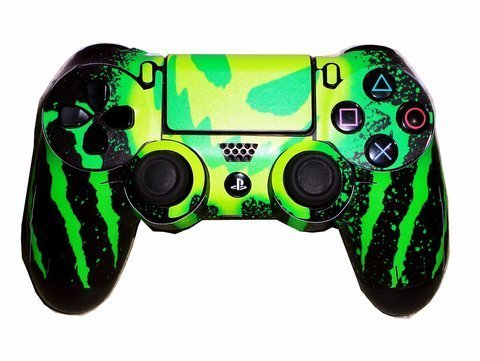 Elton PS4 Controller Designer 3M Skin for Sony PlayStation 4 , PS4 Slim , PS4 Pro DualShock Remote Wireless Controller - MONSTER ( Green , Yellow , Black , Standard ) , Skin for One Controller Only