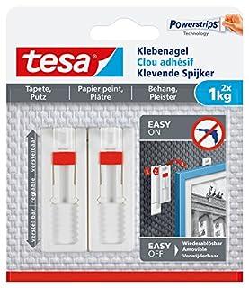 Tesa Clavos adhesivos para papel pintado y yeso, ajustables, potencia de sujeción, 2unidades, 77774-00000-00 (B01FHBO8RC) | Amazon Products