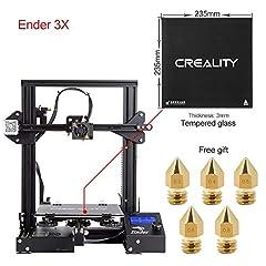 Idea Regalo - Comgrow Creality 3D DIY Stampante 3D Ender-3X with Lastra di Vetro Temperato 220 * 220 * 250 Dimensione di Stampa