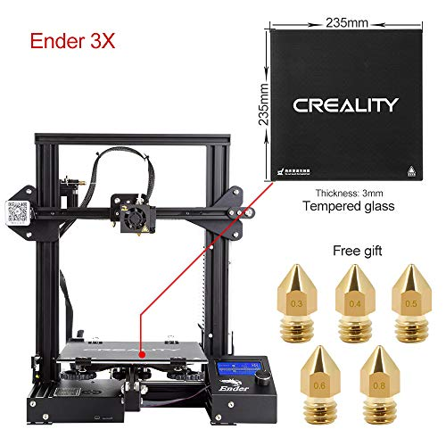 Comgrow Creality 3D Printer Ender-3X with Tempered Glass Plate 220 * 220 * 250