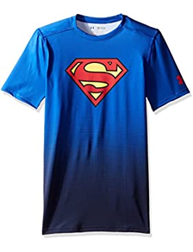 Under Armour Heatgear Fitted Superman DC Comics Boys Short Sleeve royal-red - 128