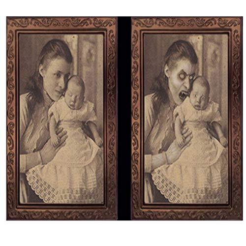 ration, Sichtveränderung Horror-Fotorahmen lebensechter Seelen-Fotorahmen des Geistes 3D Retro-Stil,