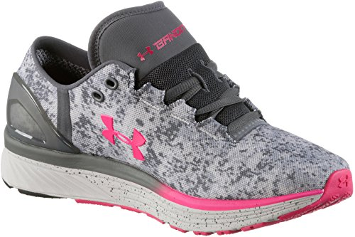 Under Armour UA W Charged Bandit 3 Digi, Scarpe Running Donna Grigio/Rosa