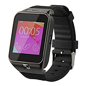 AE (TM) SW-M9 (GREY) Bluetooth Smart Watch Phone With Camera and Sim Card Support With Apps like Facebook and WhatsApp Touch Screen Multilanguage Android/IOS Mobile Phone Wrist Watch Phone with activity trackers and fitness band features compatible with Samsung IPhone HTC Moto Intex Vivo Mi One Plus and many others! Launch Offer!!