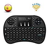 Rii mini i8+ Mini teclado ergonómico con ratón tipo touchpad incorporado. Compatible con SmartTV, Mini PC, Android, PS3, PS4, Xbox, HTPC, PC, Raspberry Pi, Kodi, XBMC, IPTV, MacOS, Linux y Windows XP/7/8/10