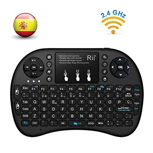 Rii mini i8+ Mini teclado ergonómico ratón