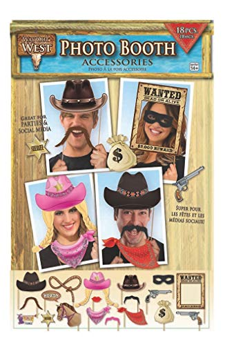 Forum Novelties x75902Way Out West Foto Booth, mehrfarbig, one size