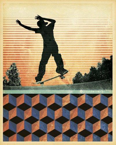 Kleister Art Collective, Original Gespannte Leinwand Kunst von Frische Gesicht, 24von 30 (Poster Kunst Vintage Original)