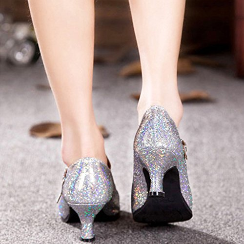 Oasap Damen Latin Tanz High Heel Sandalen Fuchsia-3