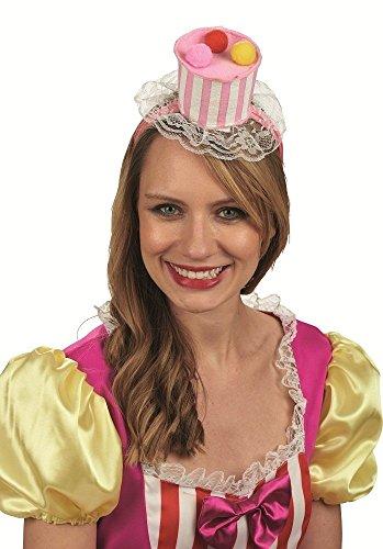 Cupcake Haarreif zum Kostüm - Süßer Törtchen Clown Hut für Fasching und ()