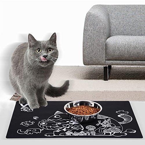Silikon hundenapfmatte Tablett Schale Katze Hund Wasserdicht Füttern faltbar rutschfeste Mehrzweck-Mats leicht zu reinigen für Boots Schuhe Paint Hund Katzentoilette Gartenarbeit