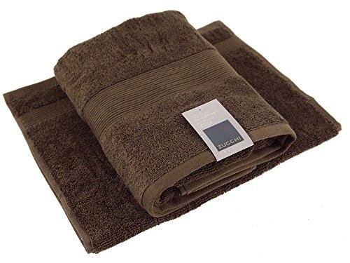 Set asciugamani 1+1 zucchi solotuo marrone