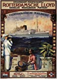 Vintage Travel Sri Lanka (Ceylon) Indonesien und Ägypten auf der Rotterdamsche Lloyd Line C1914Poster glänzend, 250gsm, A3, vervielfältigtes Poster