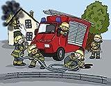 TIB Heyne 20 Servietten Feuerwehr für Mottoparty und Kindergeburtstag