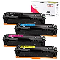AQINK 4-Color Toner Set for Canon CRG-045 045 Toner Cartridge for use in Canon i-sensys MF635cx MF631cn MF633cdw LBP613cdw LBP611cn Toner Canon Color imageclass MF634cdw Canon MF635cx MF634cdw (BCMY)